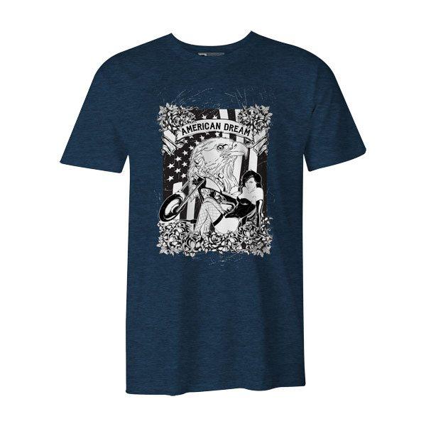 American Dream II T Shirt Heather Denimjpg