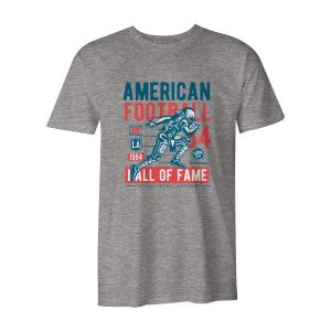American Football T Shirt Heather Grey