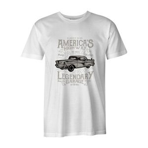Americas Highway T Shirt White