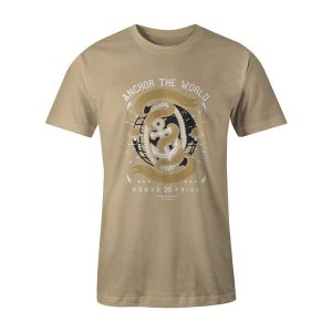 Anchor The World T Shirt Natural