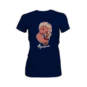 Aquarius T shirt midnight navy