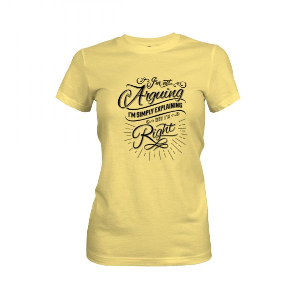 Arguing T shirt banana cream
