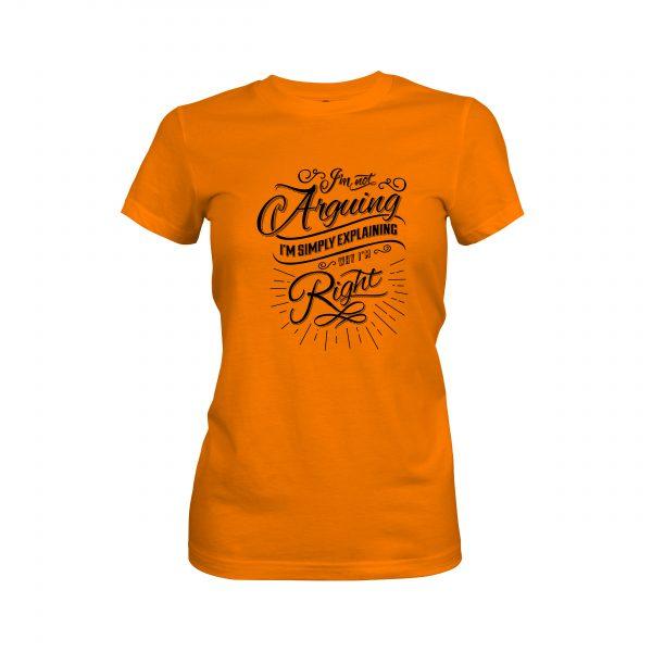 Arguing T shirt classic orange