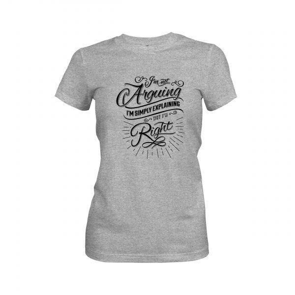 Arguing T shirt heather grey
