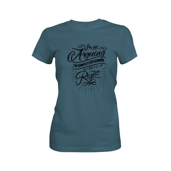 Arguing T shirt indigo