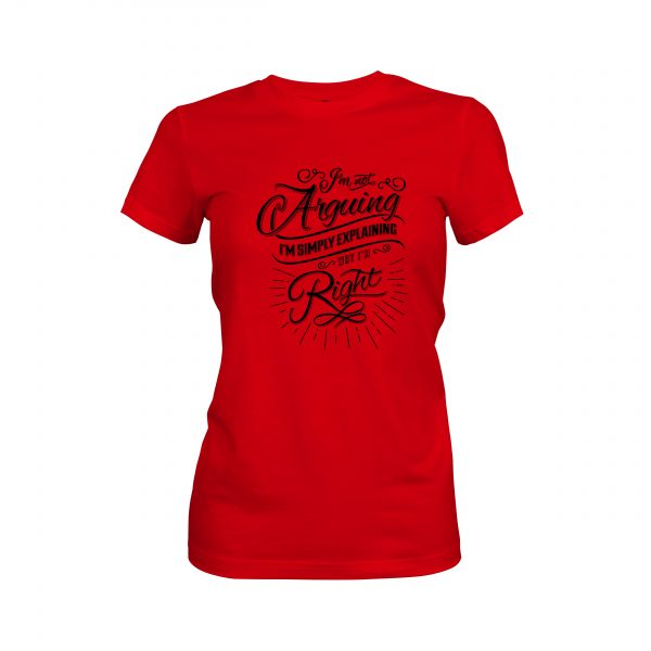 Arguing T shirt red 1