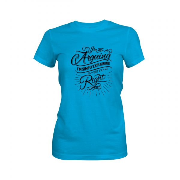 Arguing T shirt turquoise