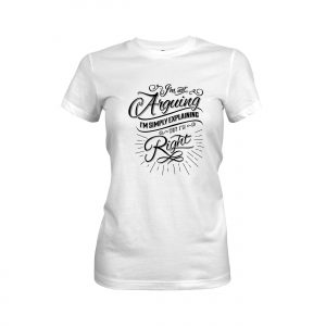 Arguing T shirt white