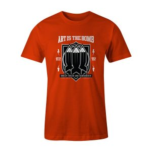 Art Is The Bomb T Shirt Orange