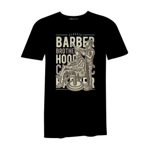 Barber Brotherhood T Shirt Black
