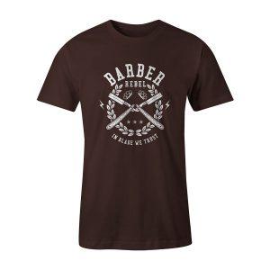 Barber Rebel T Shirt Brown