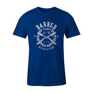 Barber Rebel T Shirt Royal