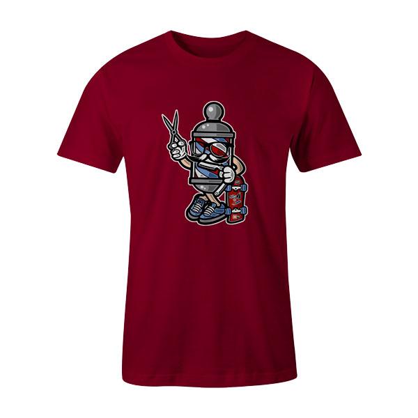 Barber Skater T Shirt Cardinal
