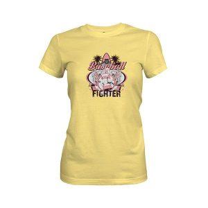 Baseball Fighter T Shirt banana cream