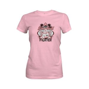 Baseball Fighter T Shirt light pink