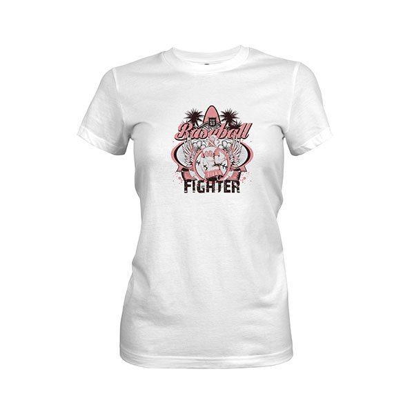 Baseball Fighter T Shirt white
