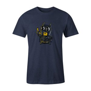 Bat Minion T Shirt Heather Denim