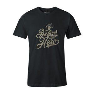 Be Your Own Hero T shirt coal
