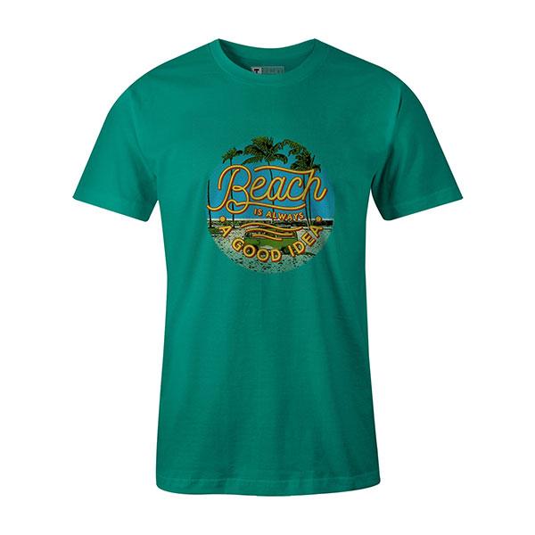 Beach Is Always A Good Idea T shirt mint