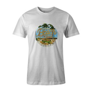 Beach Is Always A Good Idea T shirt white