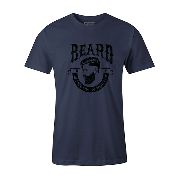Beard Is A Gift You Give To Your Face T shirt heather denim
