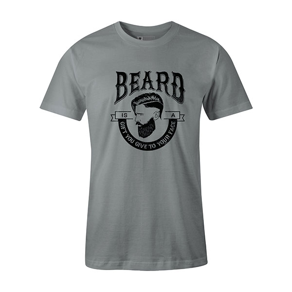 Beard Is A Gift You Give To Your Face T shirt silver