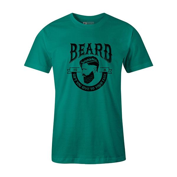 Beard Is A Gift You Give To Your Face T shirt teal