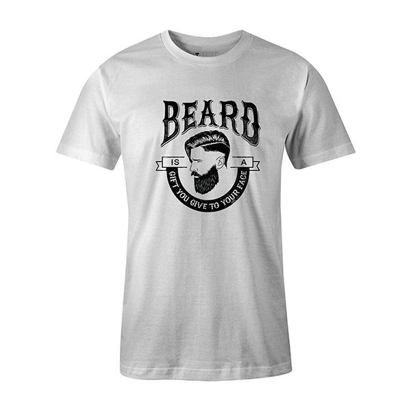 Beard Is A Gift You Give To Your Face T shirt white