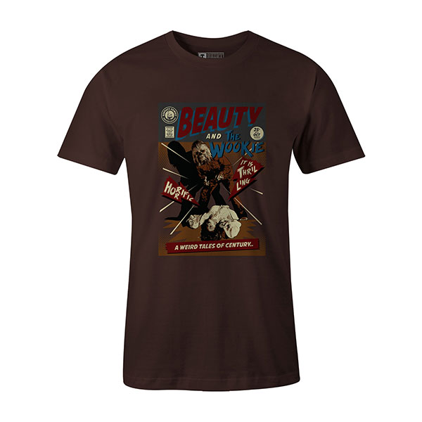 Beauty And The Wookie T shirt brown
