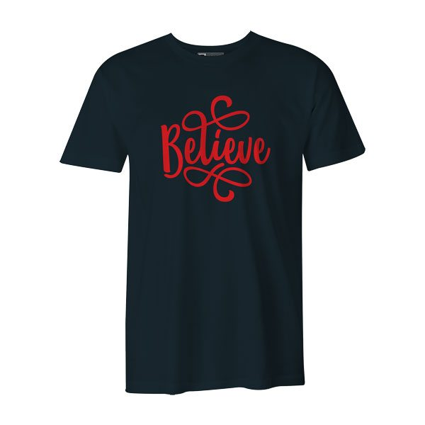 Believe T Shirt Charcoal
