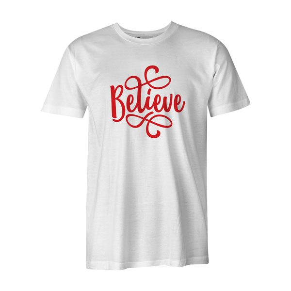 Believe T Shirt White