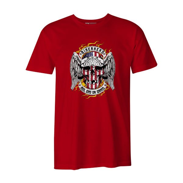 Bikerhead T Shirt Red