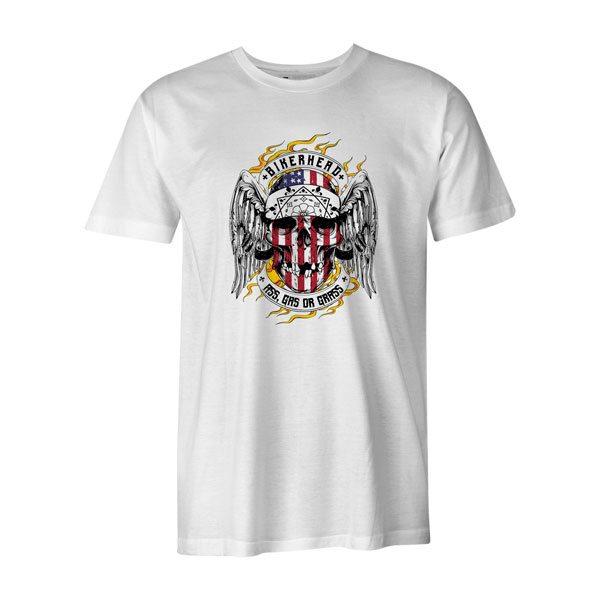 Bikerhead T Shirt White