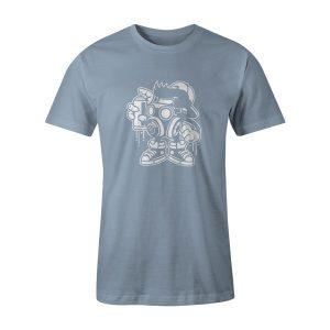 Bomber T Shirt Baby Blue
