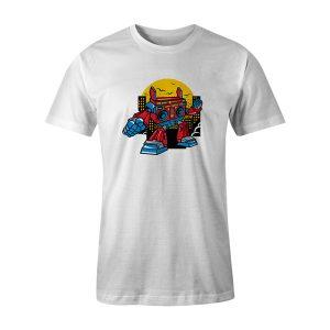 Boombox Robot T Shirt White