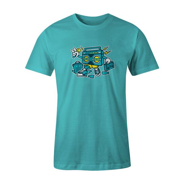 Boombox T Shirt Aqua