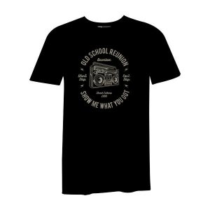 Boombox T Shirt Black