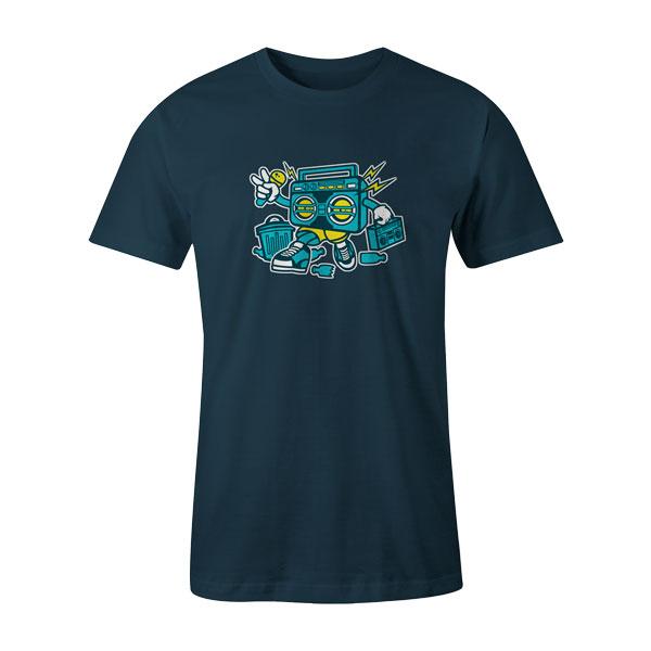 Boombox T Shirt Indigo