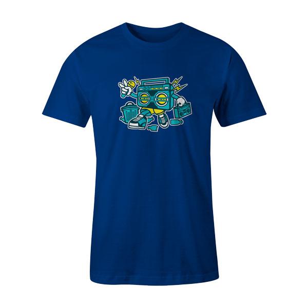 Boombox T Shirt Royal