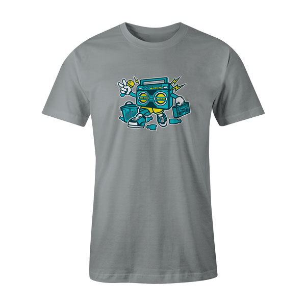 Boombox T Shirt Silver