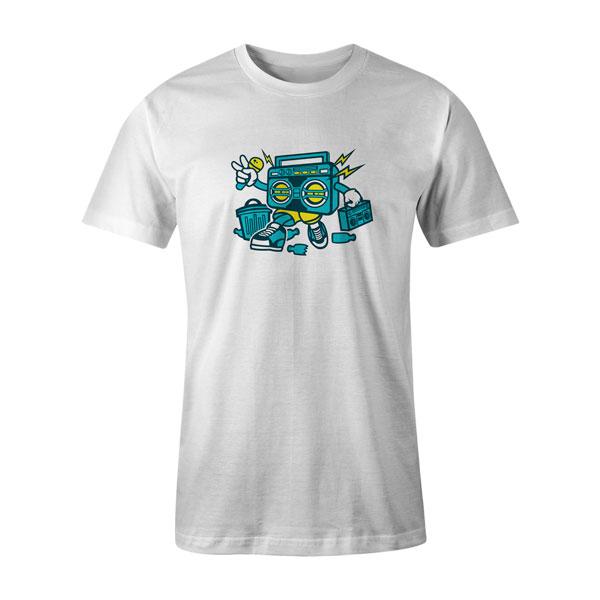 Boombox T Shirt White 1