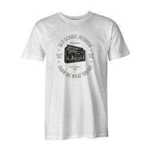 Boombox T Shirt White