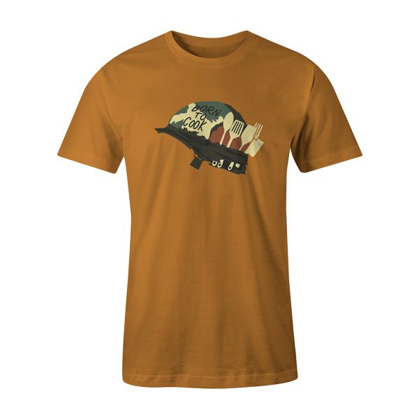 Born To Cook T Shirt Ginger
