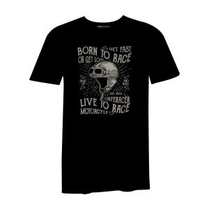 Born To Race T Shirt Black