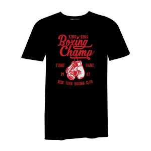 Boxing Champ T Shirt Black