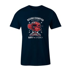 Boxing Champion T Shirt Navy