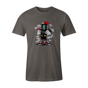 Brick Gamers T Shirt Charcoal