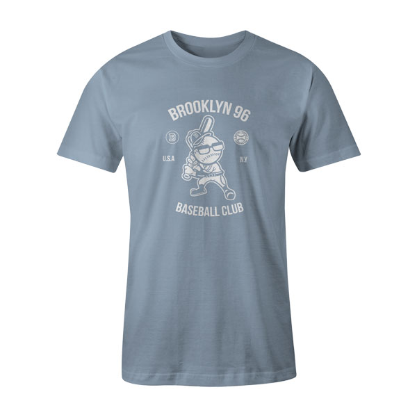 Brooklyn Baseball T Shirt Baby Blue
