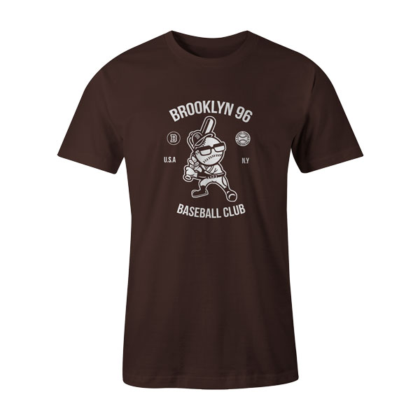 Brooklyn Baseball T Shirt Brown