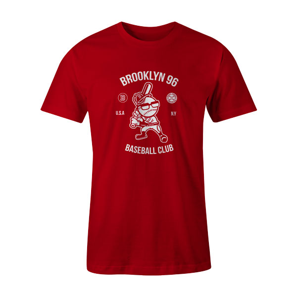 Brooklyn Baseball T Shirt Red